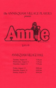 Annisquam Village Players perform Annie 2010