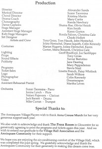 Annisquam Village Players perform Damn Yankees! 2001