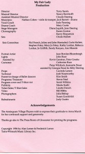 Annisquam Village Players perform My Fair Lady 1997