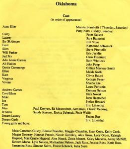 Annisquam Village Players perform Oklahoma! 1999