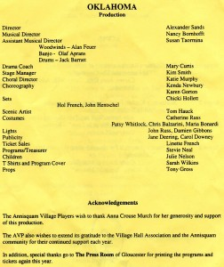 Annisquam Village Players perform Oklahoma! 1999