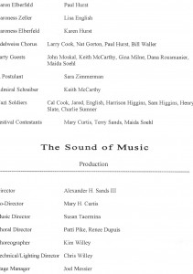 Annisquam Village Players 2008 The Sound of Music Program