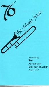 Annisquam Village Players perform The Music Man 2003