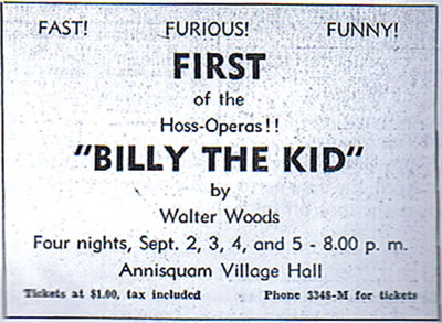 Annisquam Village Players Billy the Kid 1953